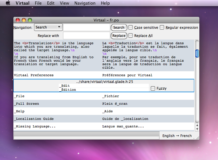 Virtaal running on OSX